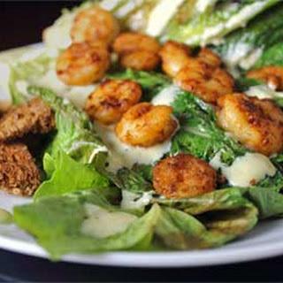 Pan Seared Shrimp with Caesar Salad
