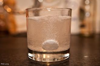 Photo: The alkaseltzer dissolves.