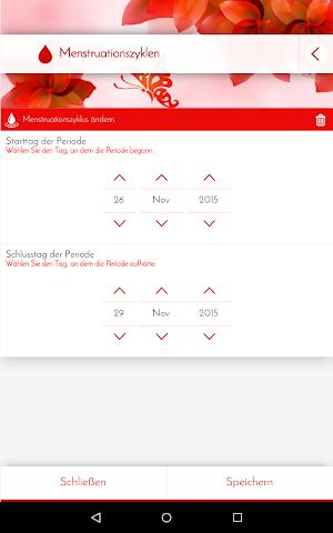 android Perioden-Tagebuch - Kalender Screenshot 14