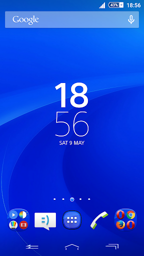 Theme Xperien Oval Blue