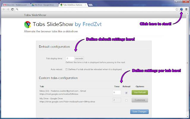 tabs slideshow by fredzvt chrome web store