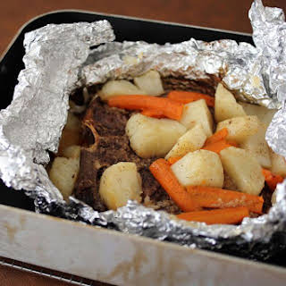 Budget Baked Chuck Steak Dinner in Foil.