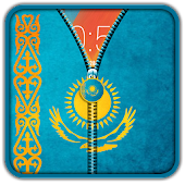 Kazakhstan Flag Zipper UnLock APK for Bluestacks