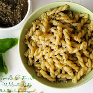 Gemelli Pasta with Walnut Pesto