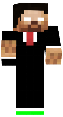 This Herobrine is very cool and a pro