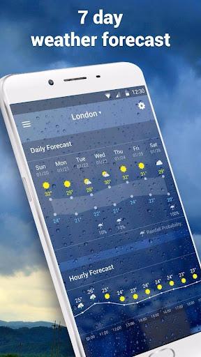 Transparent Live Weather Widge  screenshots 5