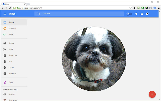 Google Inbox Photo Backgrounds