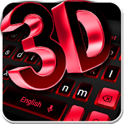 3D Black Red Keyboard Theme