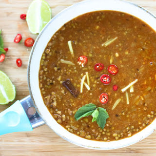 Sabut Moong Dal/ Whole green Mung Bean curry.