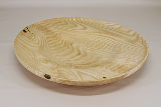 "Photo: Mike Colella 12"" x 2"" platter [paulownia]"