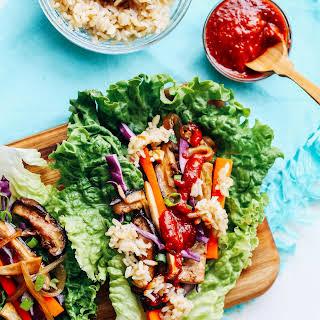 Vegan Bulgogi Lettuce Wraps.