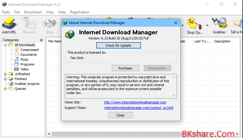 Download IDM 6.23 build 20 full crack mới nhất