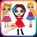 Drawing Cute Chibi Girls, How to draw girls icon