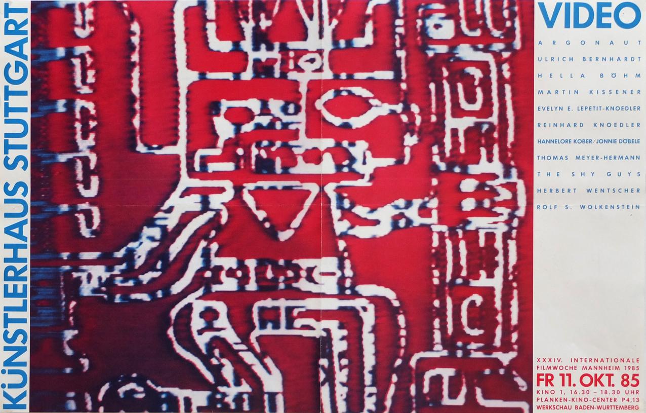 Photo: Werkschau Baden-Württemberg Künstlerhaus Stuttgart 11.10.1985 auf der 34. Internationale FilmwocheMannheim 85 DIN-A2, 38 x 60 cm