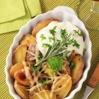 Cheesy Oven Roasted Potatoes