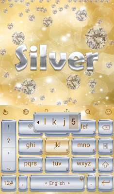 TouchPal Silver Keyboard Theme - screenshot