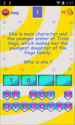 Word Game for Victorious Fans