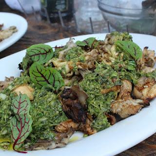 Oyster Mushrooms with Sorrel Salsa Verde