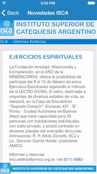 ISCA Noticias- screenshot