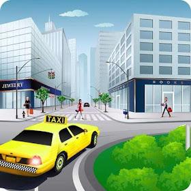 Такси Вождение автомобиля