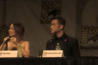 Photo: Friday - Looper panel; stars Emily Blunt and Joseph Gordon-Levitt