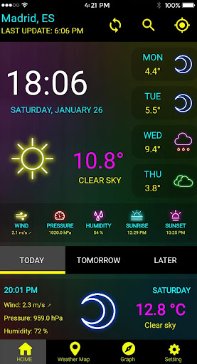 Screenshot for Weather Channel Weather Maps Weather Forecast App in United States Play Store