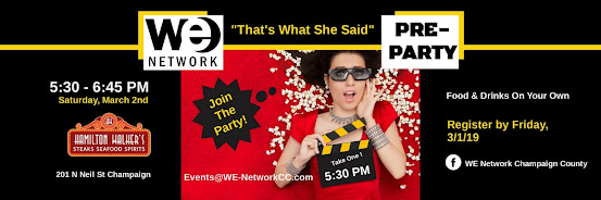 WE Network Pre-Party| March 2, 2019 | 5:30 - 6:45 PM