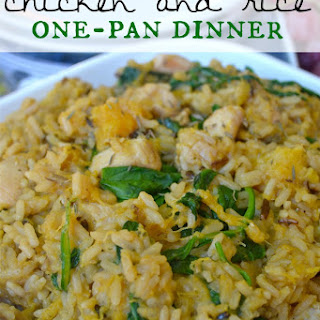 Apple Cider & Squash Chicken and Rice One-Pan Dinner