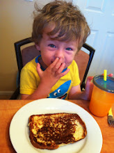 Photo: Finn with French Toast