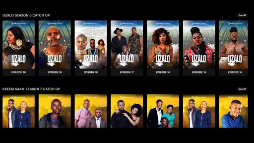 The catalogue of SABC shows currently available on Viu.