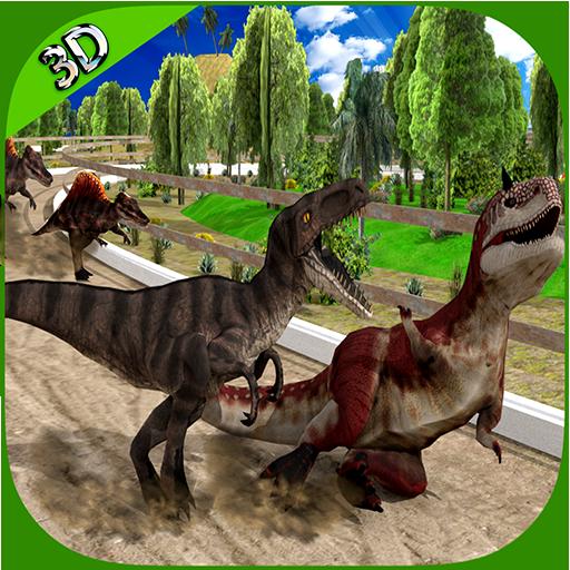 赛车游戏の3Dレーシング恐竜 LOGO-記事Game