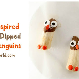 Chocolate-Dipped Banana Penguins