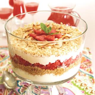 Healthy Six Layer Breakfast Trifle.