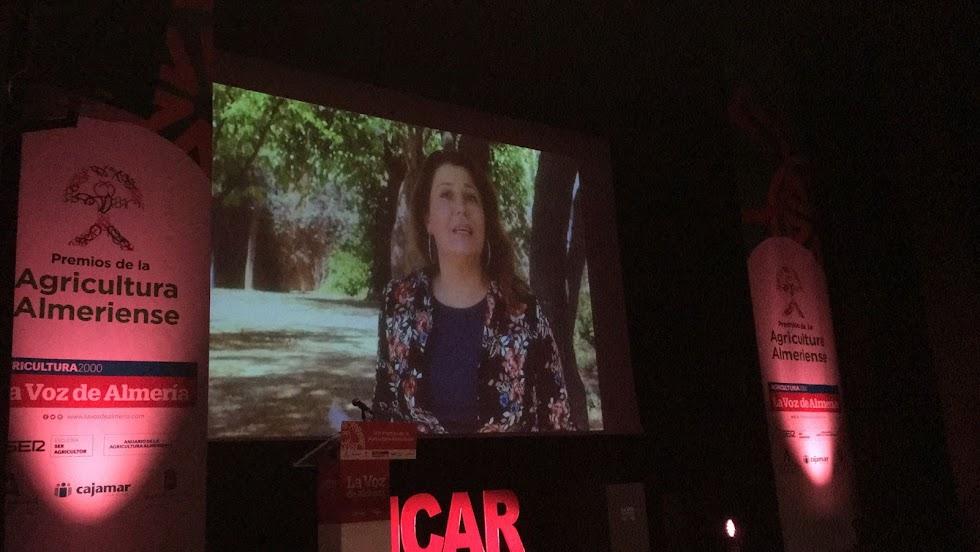 Video de la consejera de Agricultura, la almeriense Carmen Crespo.