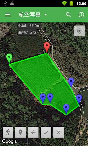 GPSで面積