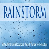 Rainstorm: Water, Wind, Rainfall Sounds & Distant Thunder for Relaxation