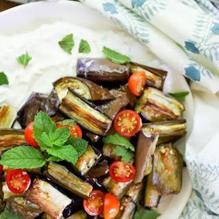 Roasted Eggplant with Raita and Mint Recipe