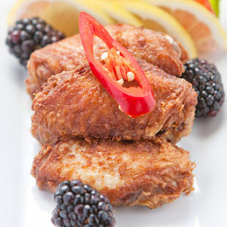 Chinese Style Deep Fried Chicken Wings.