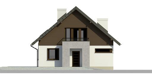 Dom przy Cyprysowej 7 - Elewacja przednia