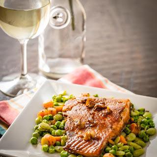 Wine & Honey Glazed Salmon