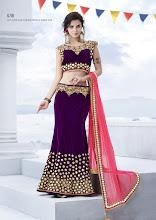 Photo: CODE: 6718 3 PCS Designer Lehenga Saree . Price : USD 110