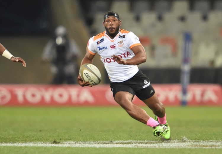 Sergeal Petersen of the Toyota Cheetahs during the Currie Cup match between Toyota Free State Cheetahs and Xerox Golden Lions at Toyota Stadium on August 26, 2017 in Bloemfontein.