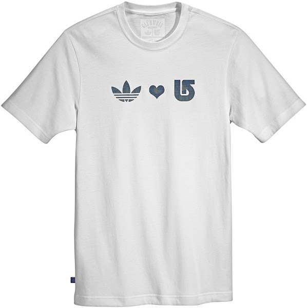 Photo: Art. O34770 - Tee SSL Celebrating the labour of love that's gone into this collaboration between adidas and Vermont's B.Snowboards, the adidas Originals Short Sleeve Tee features a simple heartfelt graphic across the front of this cotton/poly t-shirt. Find a store: http://a.did.as/vvQseY
