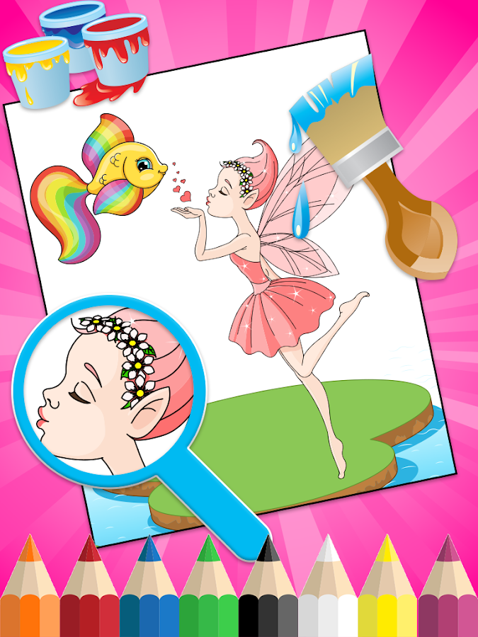 Princess Coloring for Kids- screenshot