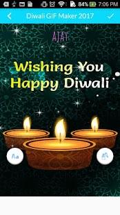 Diwali GIF Text Editor - náhled