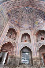 Photo: Mečetės viduje.  Inside the mosqe.