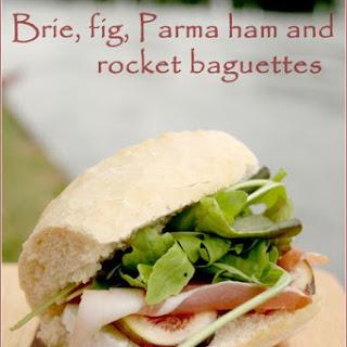 Brie, fig, Parma ham & rocket baguettes for our Henley Regatta picnic.