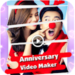 Anniversary Video Maker with background song icon