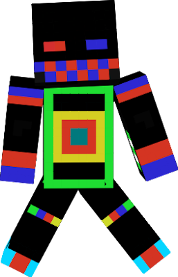 This awsome looking skin will help you fit in with one of the awsome players because its colorful and awsome!