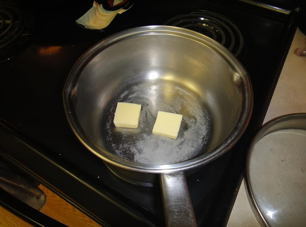 Set into a medium pan and place butter over high heat.